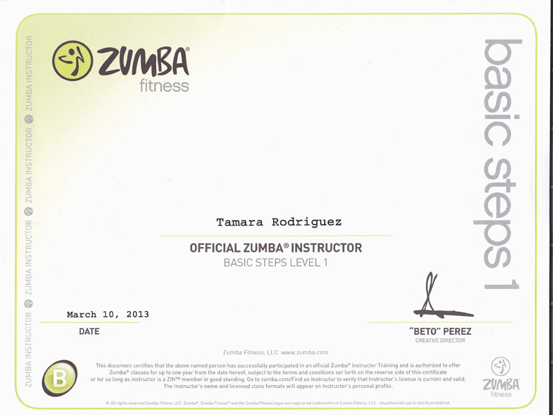 Tamara : Yoga & Zumba Instructor   Tamara Rodriguez Mehl